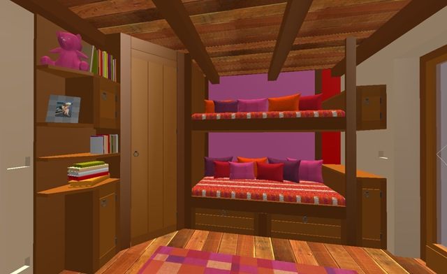 Baccon group letto a castello con libreria e cabina for Letto a castello con armadio