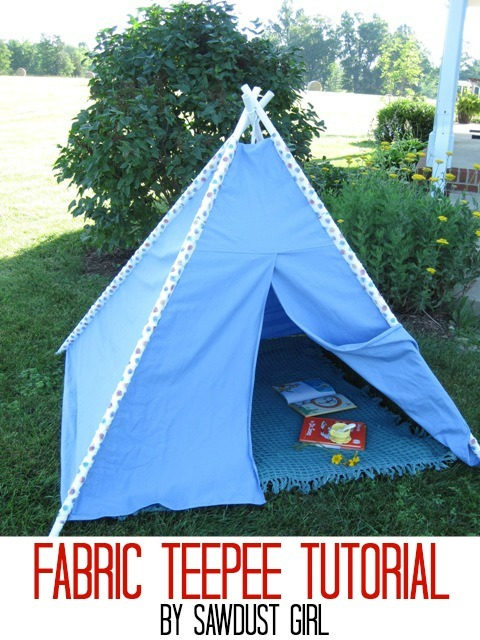 PVC Pipe Teepee Tutorial by Sawdust Girl