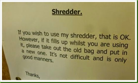 confidential document shredder.
