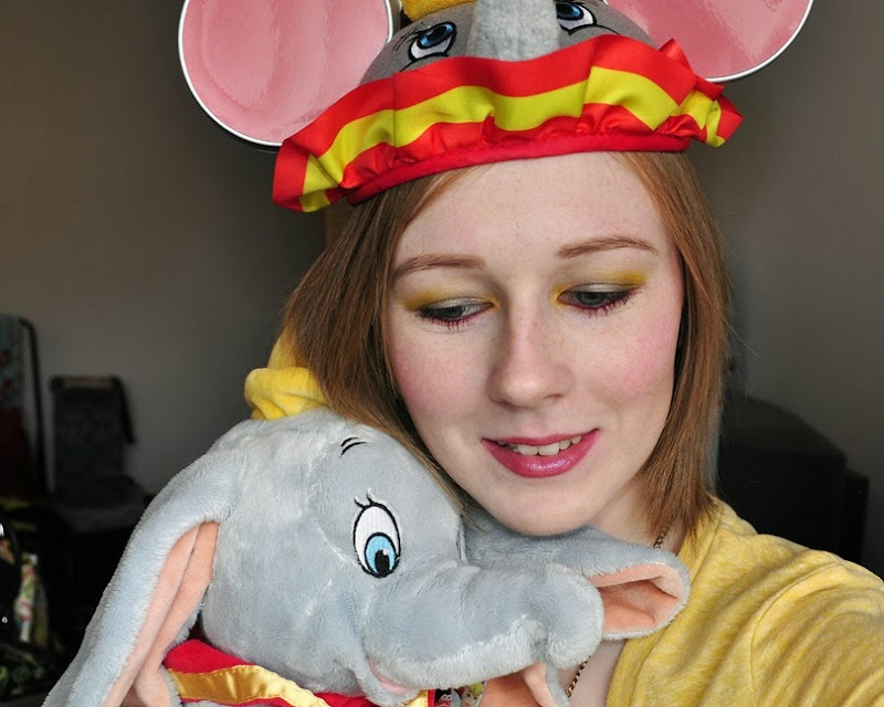 disney dumbo inspired makeup look bright sugarpill FOTD