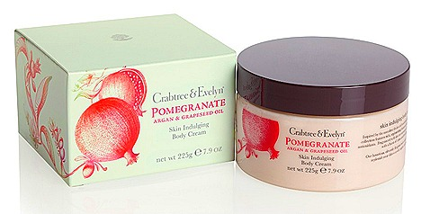 Crabtree & Evelyn Pomgranate, Argan & Grapeseed Body Care  Skin Indulging Body Cream (225g, $60)
