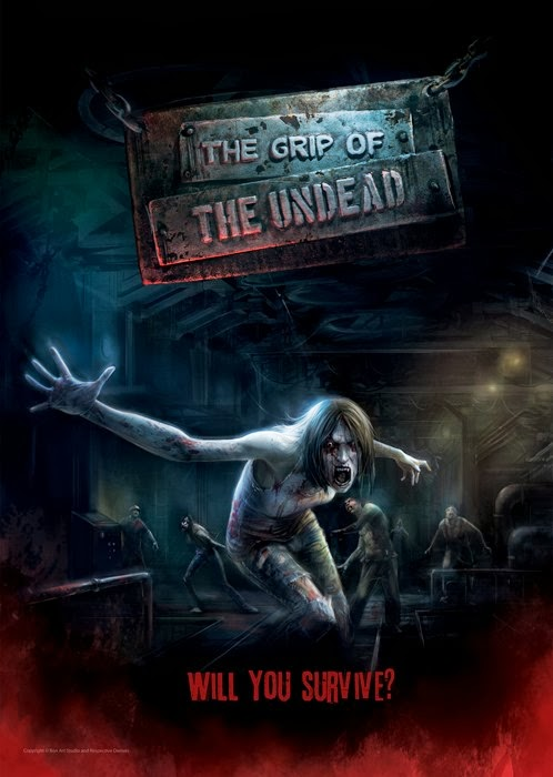 The Grip of The Undead Poster__FRIGHT NITES_Sentosa 4D AdventureLand#48FB