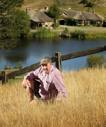 PARADISE FADING? Water cuts by the Waikato Regional Council threaten to turn Hobbiton brown. It's the region's driest summer in five years and, with no rain in sight, Matamata best known tourist attraction may become three hectares of parched grass and stressed plants. Photo: BRUCE MERCER / Fairfax NZ