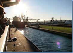 5195 Michigan - Sault Sainte Marie, MI - Soo Locks  - freighter Federal Patroller entering MacArthur Lock