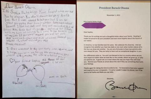 Cartas de Sophia e Obama