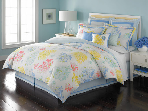 Mademoiselle is a six-piece bed in a bag set from our Macy's collection.  This pattern is one of Martha's personal favorites.