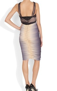 Ombre silk dress nude2