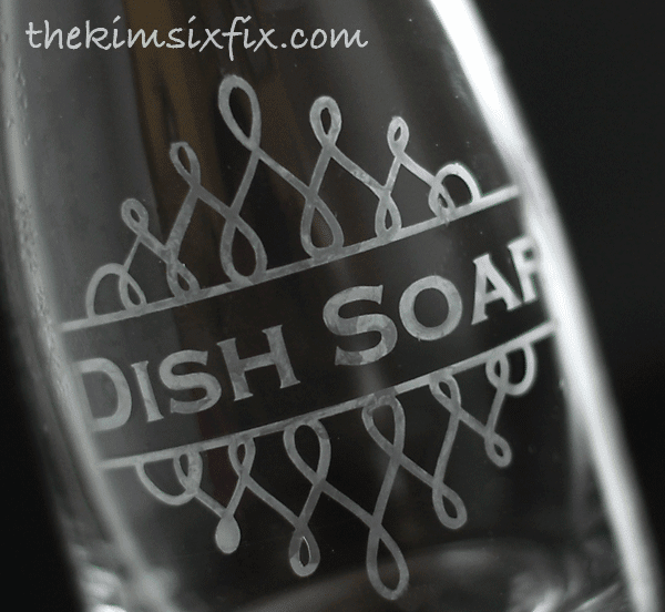 Etched soap jar