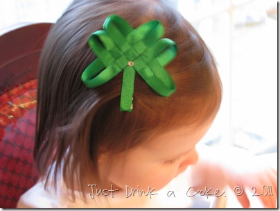 St. Patrick's Day ribbon hairclip