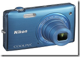 Buy Nikon Coolpix S5200 Point & Shoot Camera + 4 GB SD Card + Camera Pouch at Rs. 6850, Flipkart offer
