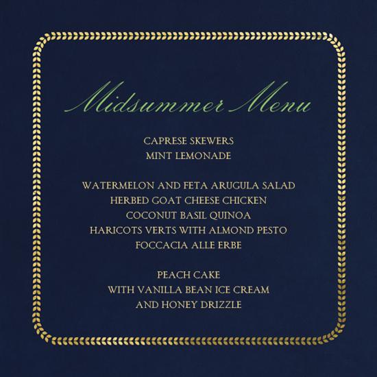 midsummer menu