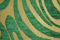 Tkanina obiciowa w stylu lat 60-tych, 70-tych. Zielona.