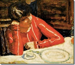 Pierre Bonnard - Le corsage rouge, 1925 at Centre Pompidou Paris France