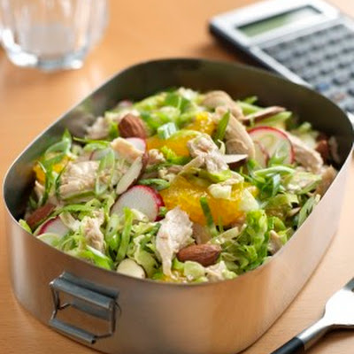 Chinese Chicken Salad with Brussels Sprouts