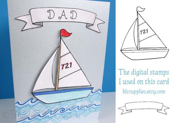2013June19 nautical boat make card 3