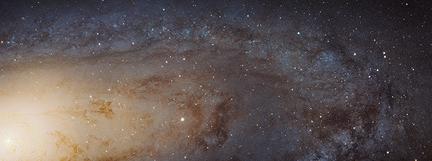 parte da galáxia de Andrômeda