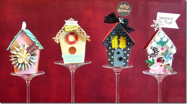 cafe creativo - sizzix big shot - birdhouse - holidays - 4 seasons (1)