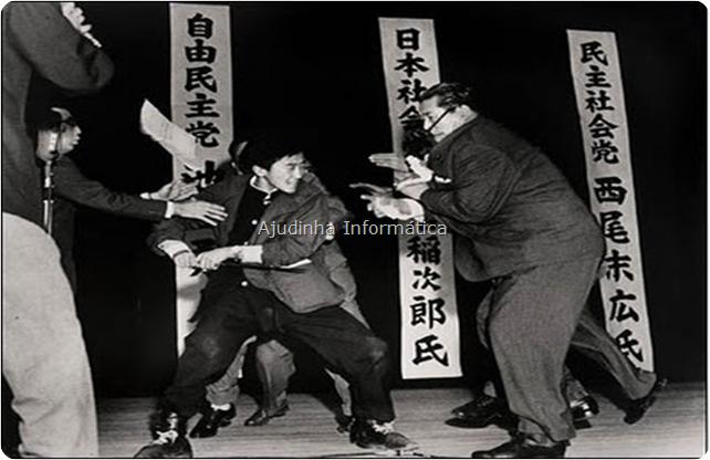 Foto ganhadora do Prêmio Pulitzer, mostra o assassinato do líder comunista japonês em 1960 por um jovem nacionalista de 17 anos com uma katana!