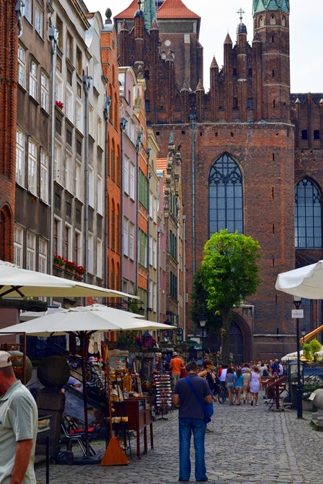 Gdansk colourful buildings