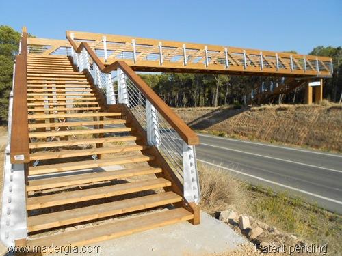 puente madera acero