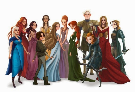 Women of Game of Thrones (Song of Ice and Fire) from Leann Hill Art