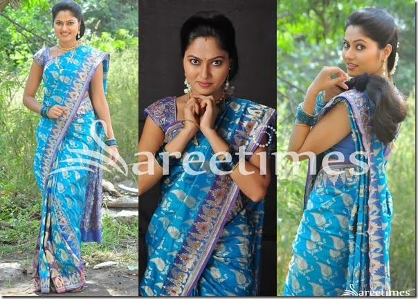 Suhasini_Blue_Silk_Saree