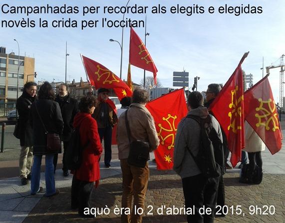 manifestacion Calandreta al CG de Tolosa