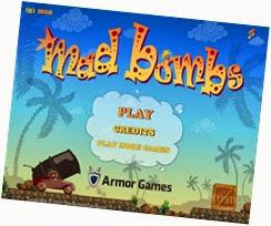 صورة القائمة الرئيسية للعبة القنابل المجنونة