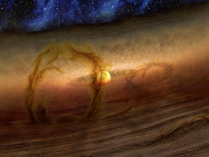 loops magnéticos carregam gás e poeira no disco de formação de planetas