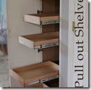 empty pull out shelves