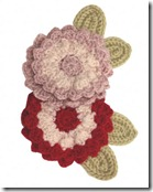 Cashmere Flower Brooch - £12