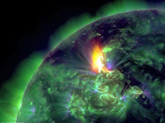 Seeing a Solar Flare