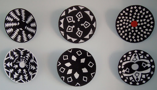 Zulu baskets woven with Telephone wire.
