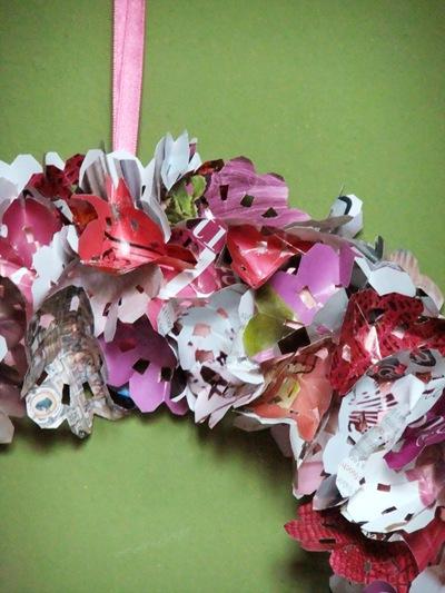 fiori rosa di carta
