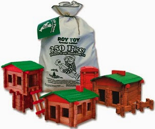 roy toy, lincoln logs, made in the USA, building set