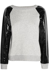 Karl Jeren cotton-terry and PVC sweater