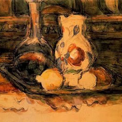 Paul Cezanne (1902-1906): Botella, garrafa, jarro y limones. Museo Thyssen-Bornemisza. Postimpresionismo