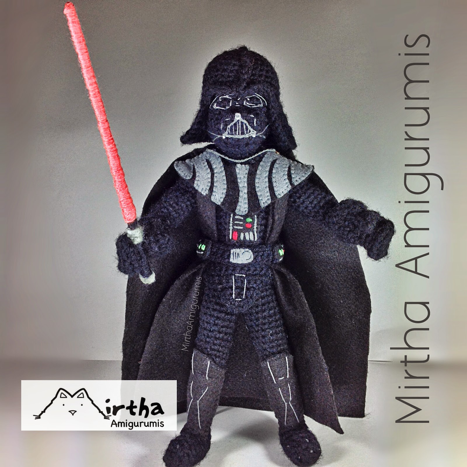 Amigurumi Sewing Machine Pattern : Mirtha Amigurumis: Darth Vader Amigurumi star wars (NOT ...