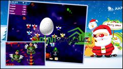 لعبة غزو الفراخ كريسماس فيرجن للأندرويد Chicken Shoot Xmas - 1