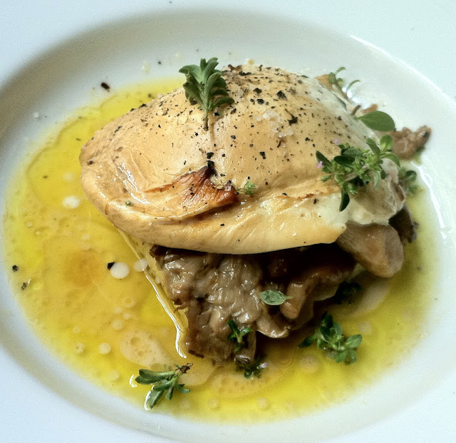 Vivant Polenta, Mushrooms, Smoked Mozzarella, Herbs 10 11