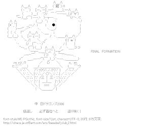 [AA]FINAL FORMATION (中日ドラゴンズ)