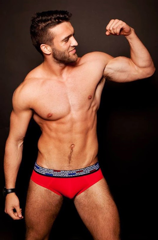 sexy guy in red curb wear briefs