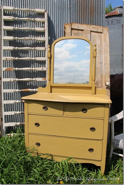sweet yellow dresser