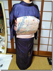 素敵な大島紬に袋帯 (1)