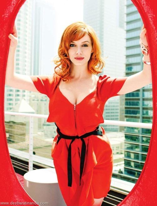 Christina Hendricks linda sensual sexy sedutora decote peito desbaratinando (54)