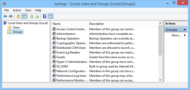 local-users and groups
