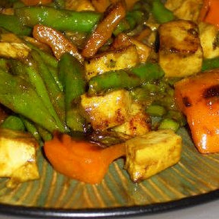 Leftover Grilled Chicken Curried Stir-Fry