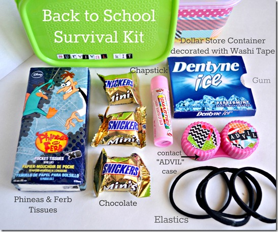 DIY locker accessories survival kit contents