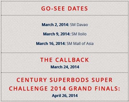 Century Tuna Superbods go see schedule