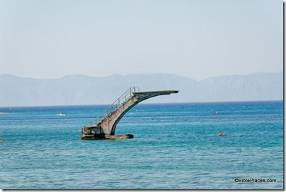 Rhodes beach with diving board, tb061906300